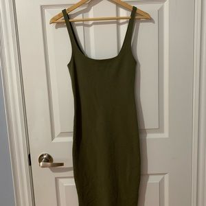 Green midi dress!
